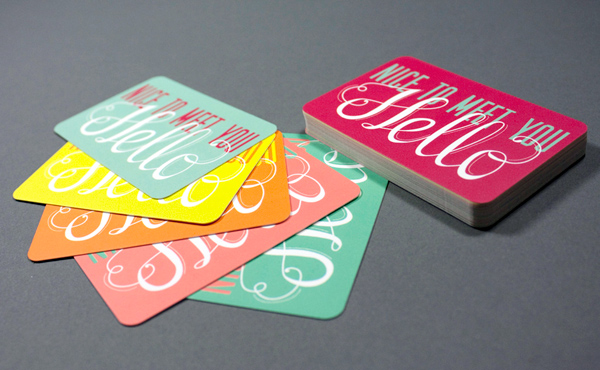 Rachy McKenzie's Colorful Business Cards