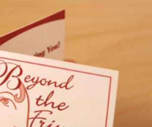 Beyond the Fringe Hair Design's Folding Business Referral Card