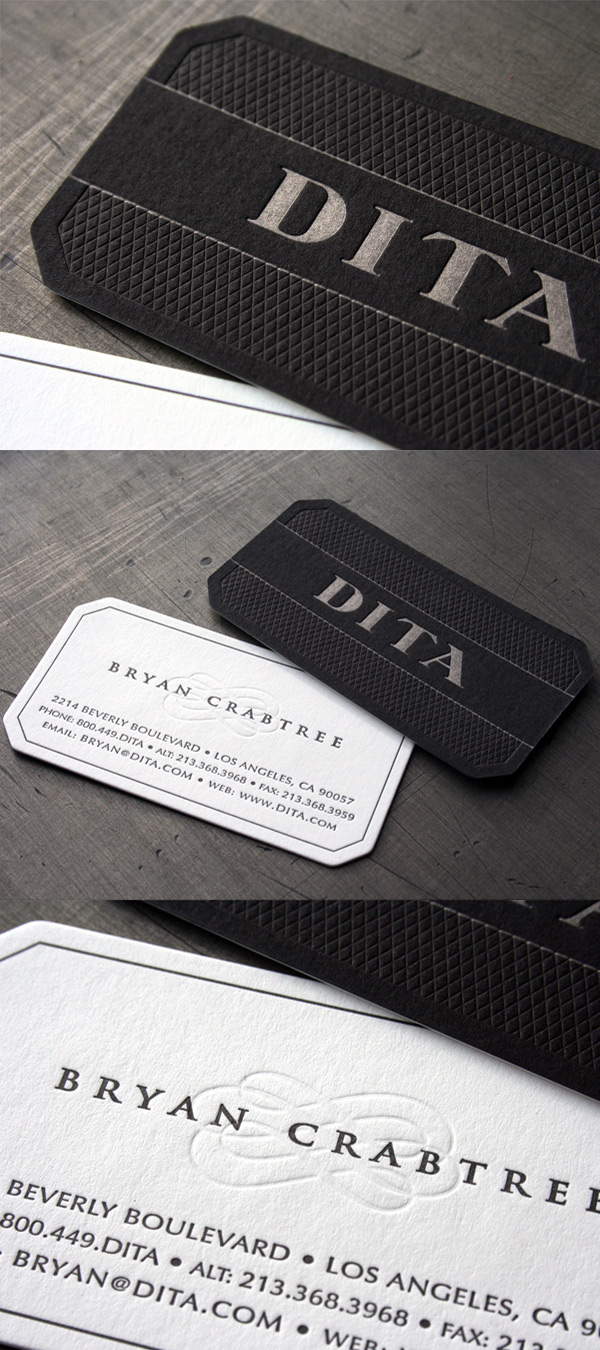 Dita eyewears high class sophisticated business card dita eyewears sophisticated business card reheart Choice Image