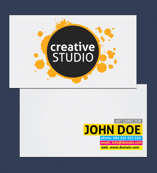 Free Classic Business Card Template by Drawzen