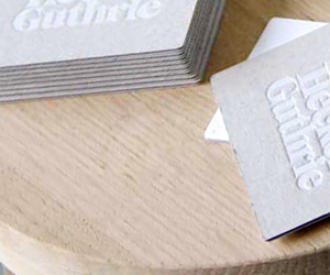 Hecker Guthrie's LetterPress Business Card & Brand Identity