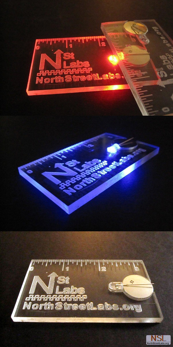 NorthStreetLabs' Machine Milled Plastic Business Card