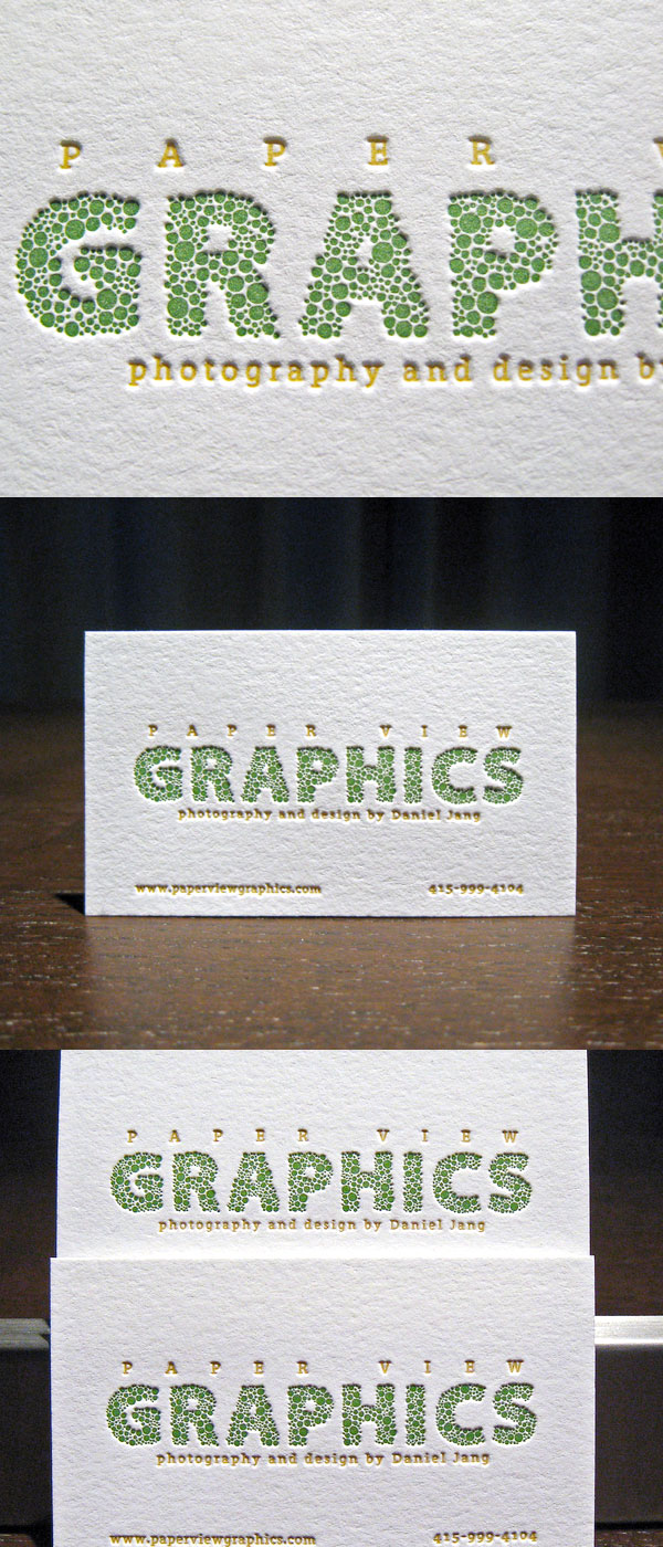 Paper View Graphics Photography's Typography Business Card