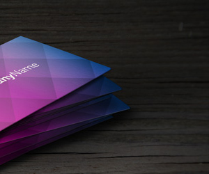 Free Patterned Designed Business Card Template: Corporate Business Card