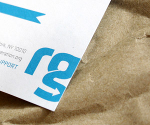 Resource Generation's Minimalist Business Card & Brand Identity