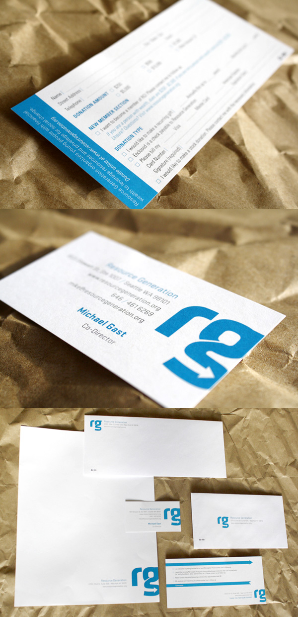 Resource Generation Minimalist Business Card & Brand Identity