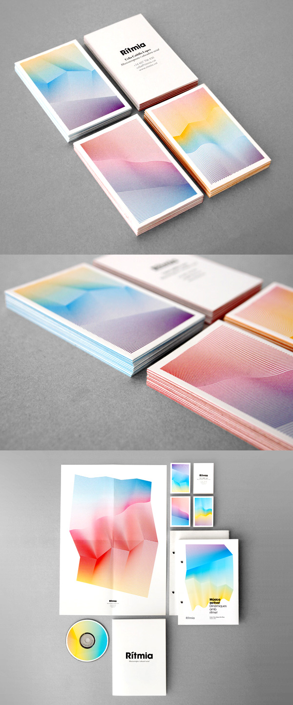 Rítmia's Elegant Business Card & Identity