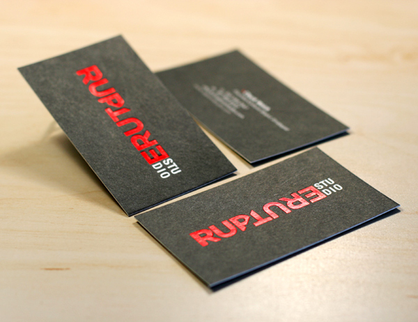 Rupture Studio's Typography Business Card