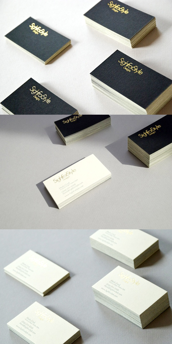 Sight for Style Letterpress Business Cards