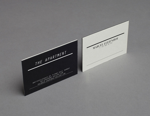 The Apartment Gallery's Minimalist Business Cards