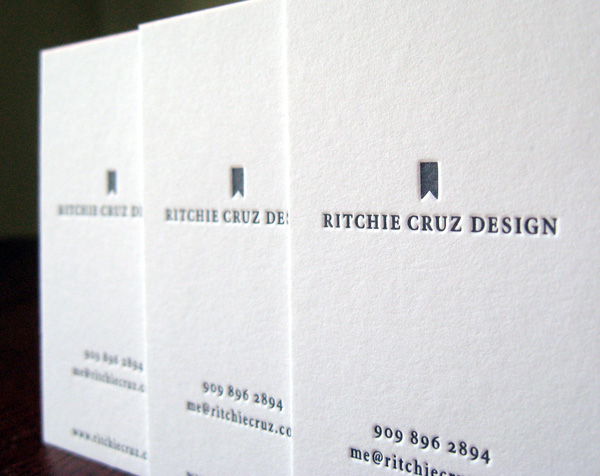 Ritchie Cruz Designs' Minimalist Business Card