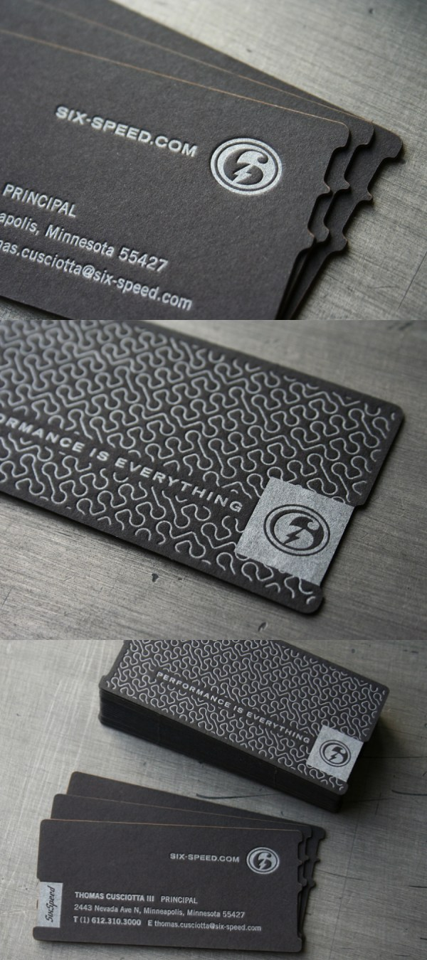Six Speed's Letterpress Business Card