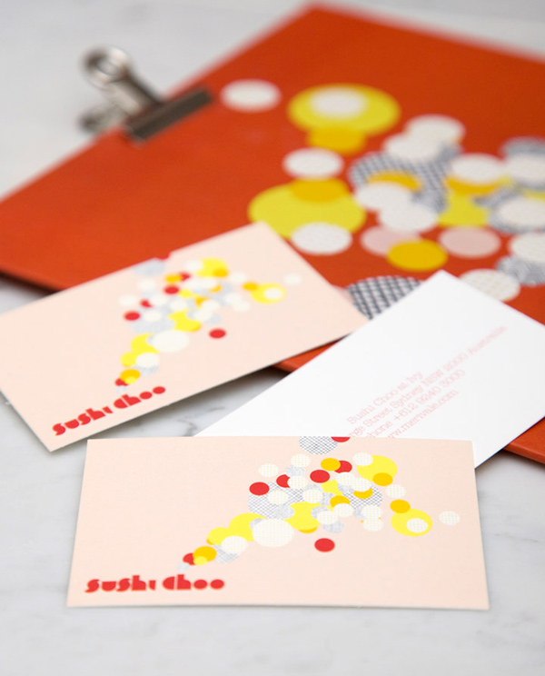 Sushi Choo's Colorful Business Card