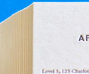 Ben Chiu's the Apartment's Letterpress Business Cards