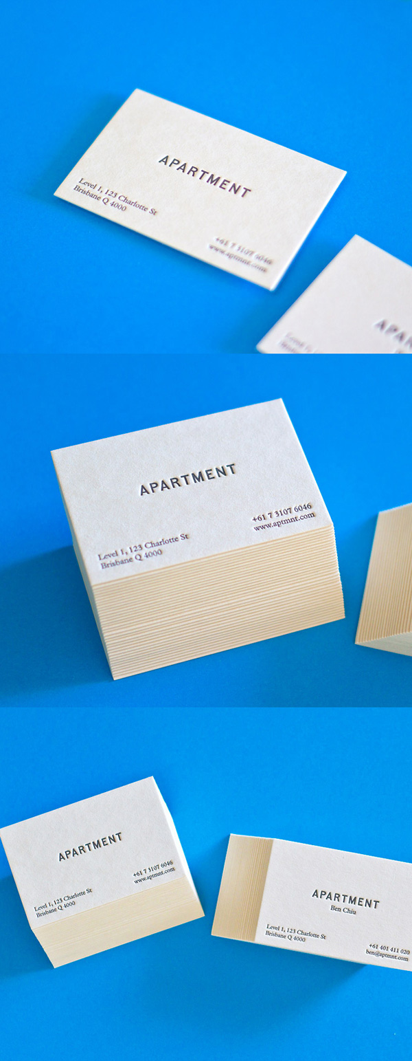 Ben Chiu's the Apartment's Minimalist Business Cards