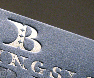 Billingsley Custom Ties Letterpress Business Cards