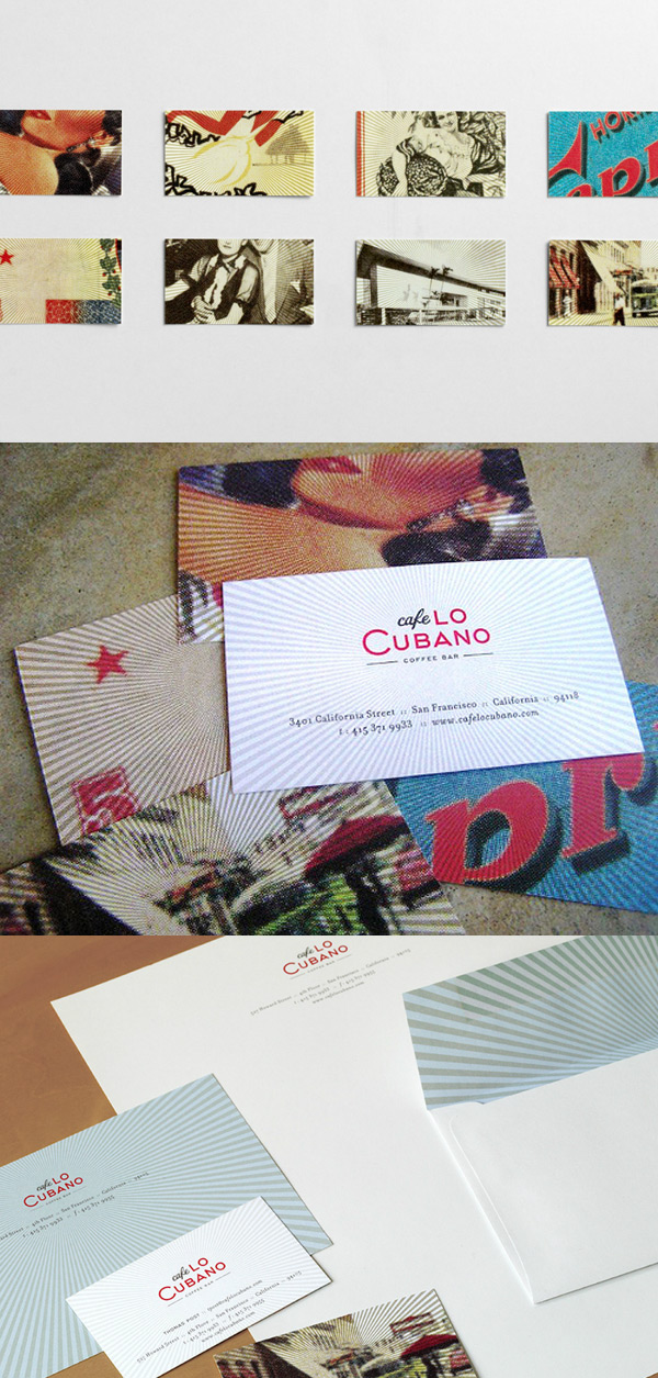 Cafe Lo Cubano's Colorful Business Cards