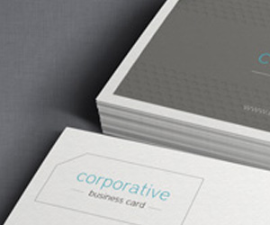 Corporative Free Corporate Business Card Template by Pixeden