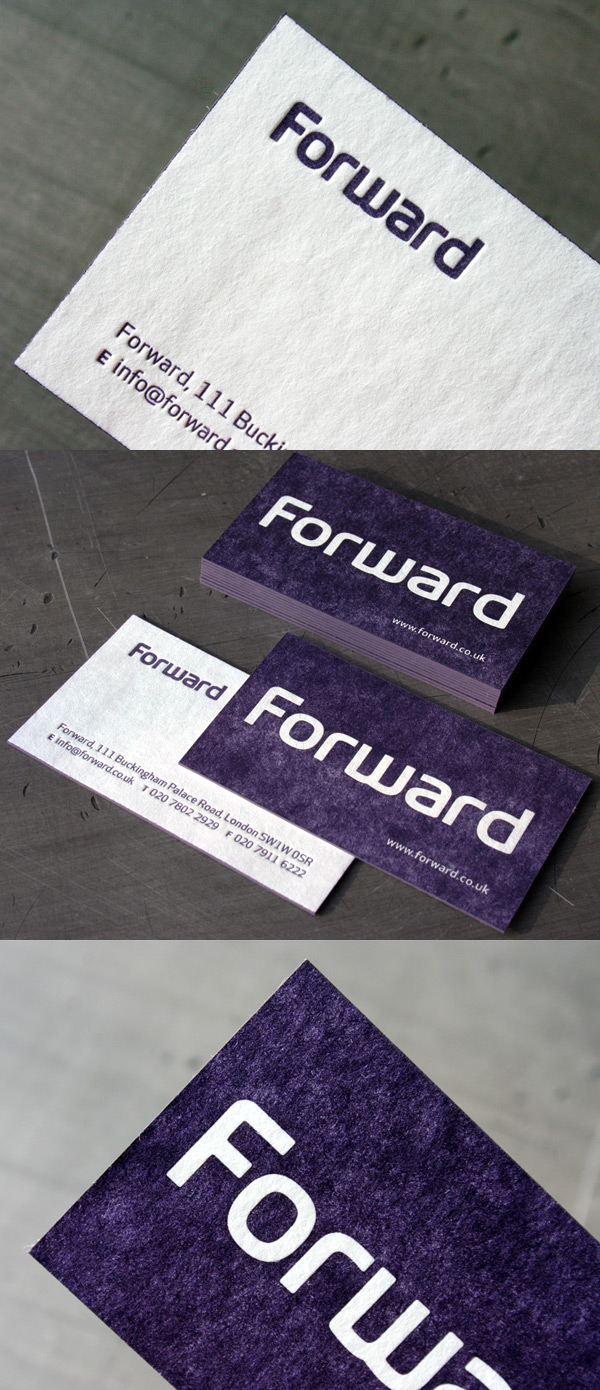 Forward's Letterpress Business Card