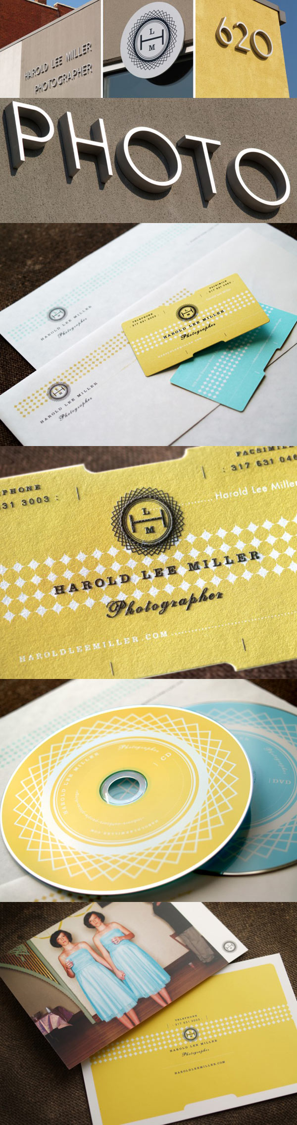 Harold Lee Miller's Die Cut Business Card
