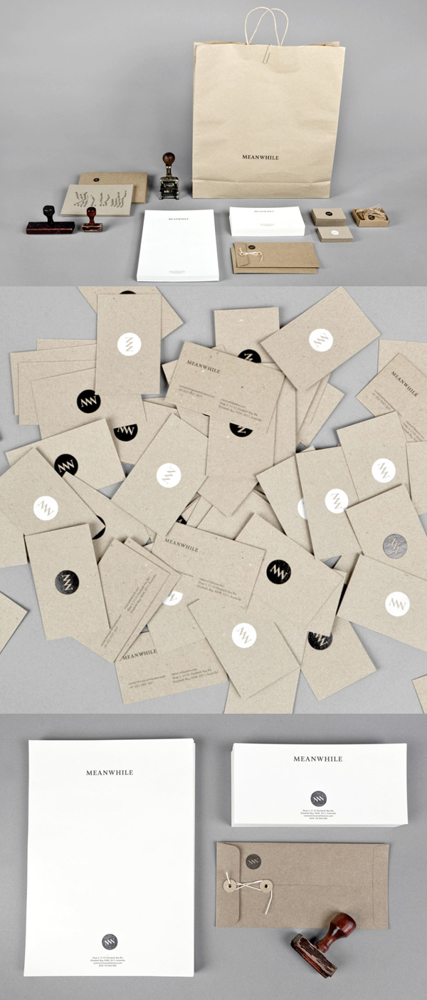 Meanwhile's Minimalist Business Cards