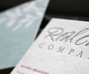 Real Card Company's LetterPress Business Card