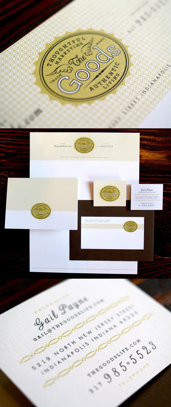 The Goods' Business Nostalgic Card & Brand Identity