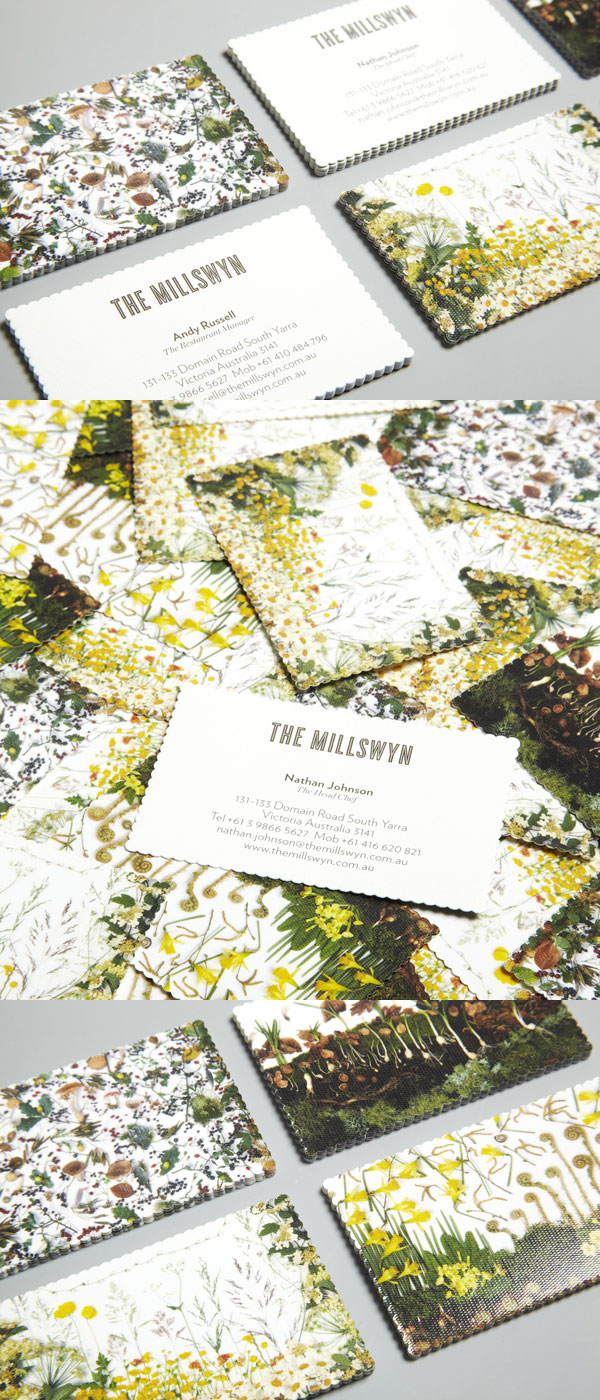 The Millswyn's Die Cut Business Card