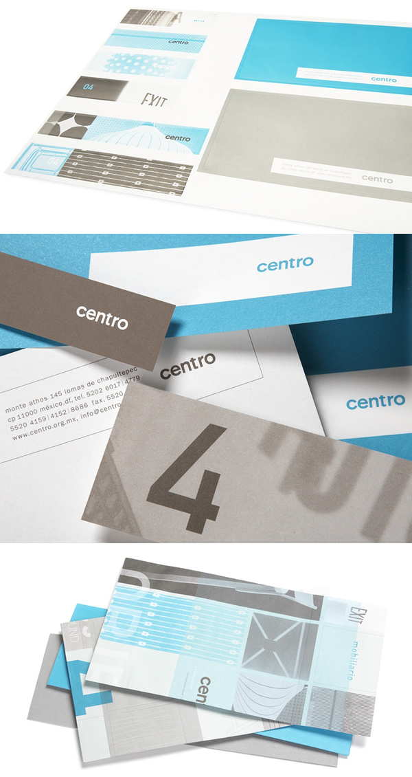 Centro's Clean Business Card Designs