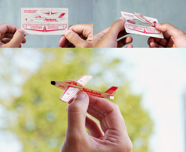 Norburn Model Aircraft Supply's Wooden Business Card
