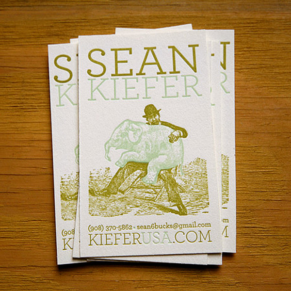 Sean Kiefer's Letterpress Business Card