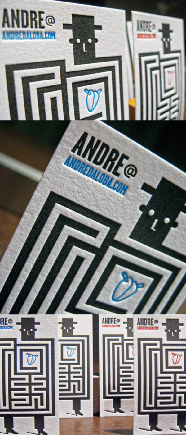 Andre Da Loba's LetterPress Business Card