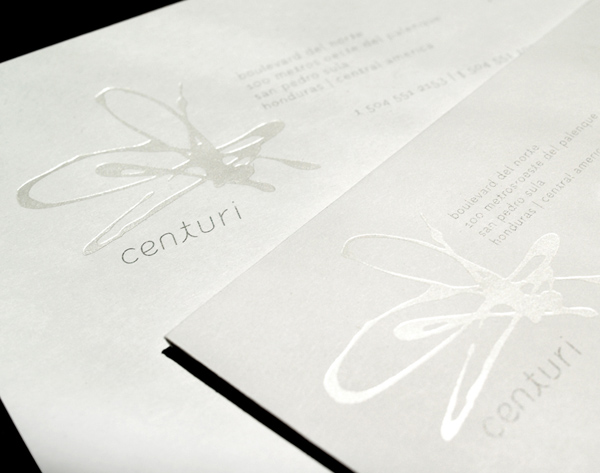 Centuri's Luxurious Business Card