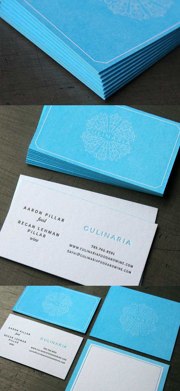 Culinaria's Letterpress Business Card