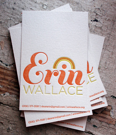 Erin Wallace's Colorful Business Card