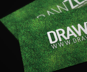 Free Grassy Business Card Template by Drawzen