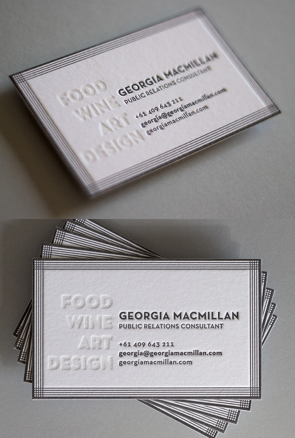 Georgia MacMillan's LetterPress Business Card