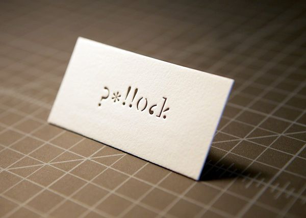 Kelli Pollock's Letterpress Business Card