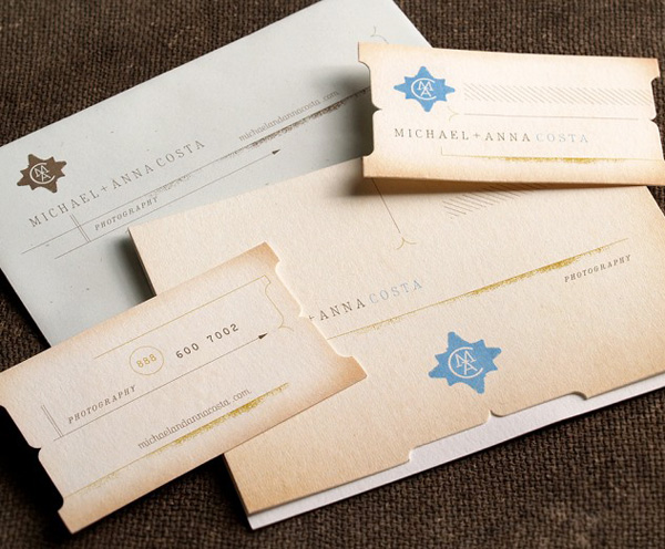 Micheal & Anna Costa Photography's Luxury Business Cards