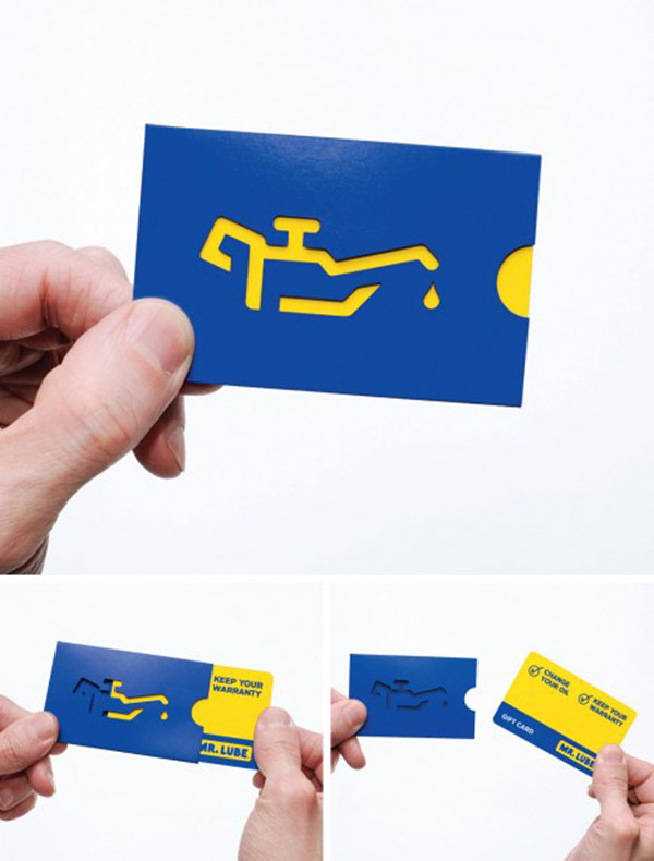 Mr. Lube's Unique Business Card