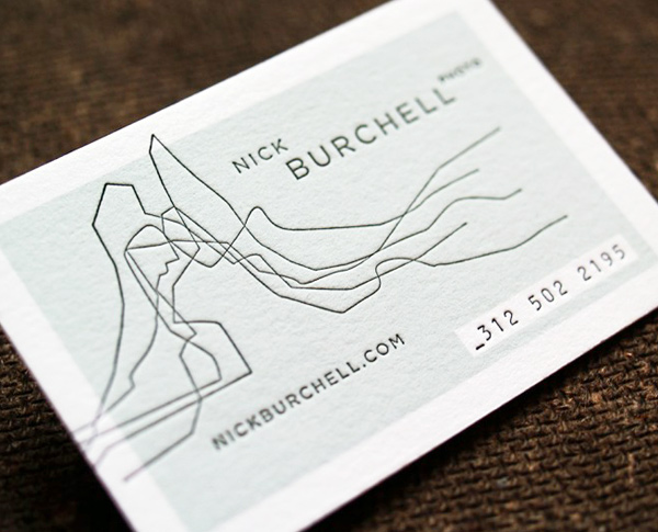 Nick Burchell's LetterPress Business Card