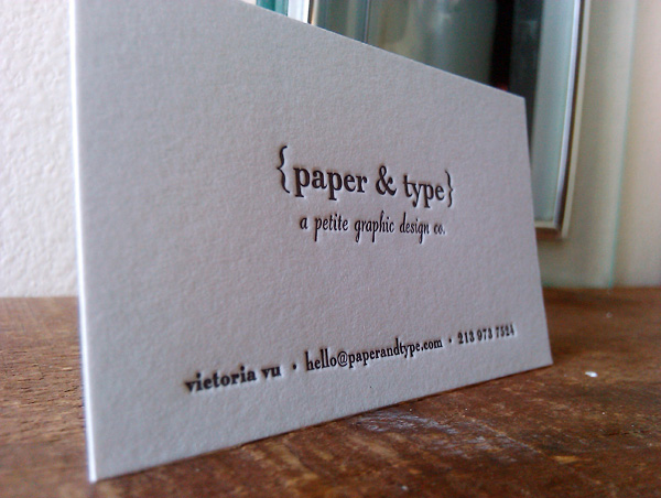 Paper & Type Typography Business Cards