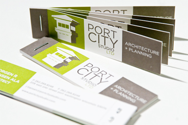 Port City Studio's Folding Business Card