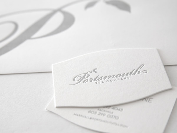 The Portsmouth Tea Company's Letterpress Business Card