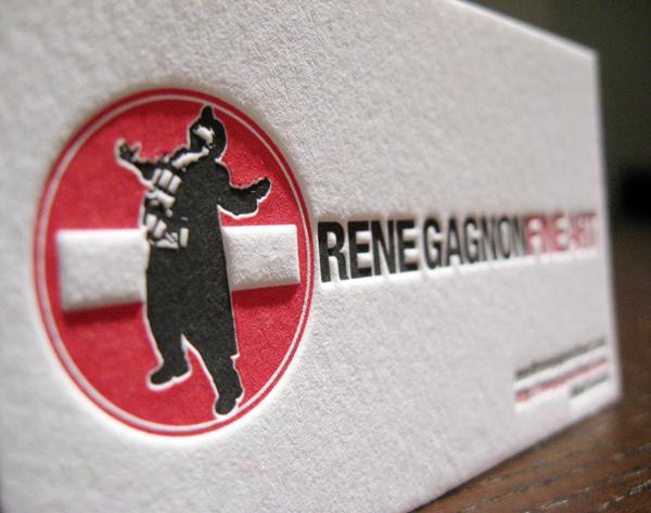 Rene Gagnon's Letterpress Business Card