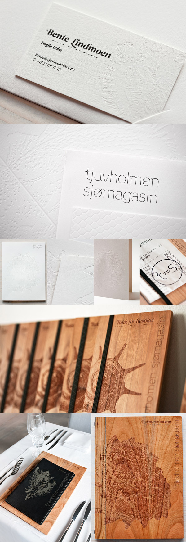 Tjuvholmen Sjomagasin Restaurant's Business Card & Brand Identity