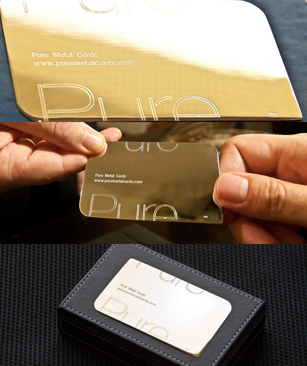 Pure Metal Cards Pure Gold Business Card