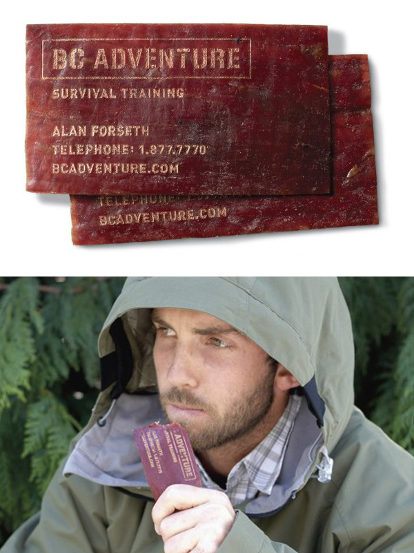 BC Adventure's Unique Edible Business Cards