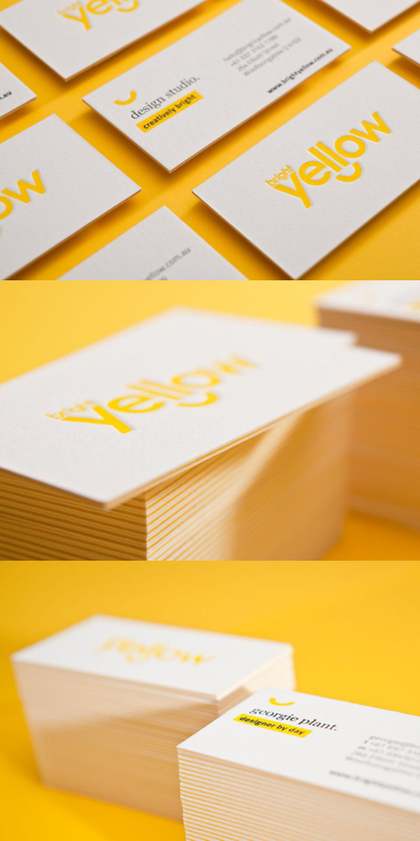 BrightYellow's LetterPress Business Card