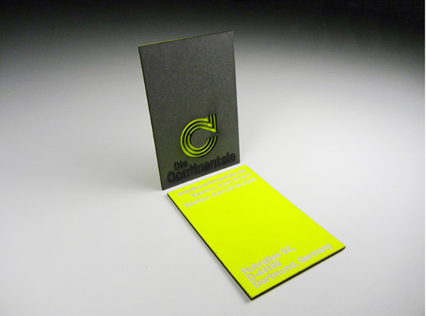 The Continentale's Laser Cut Business Card